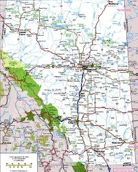 Road Map Of America by Highways And Roads Map Of Albertafree Maps Of North America