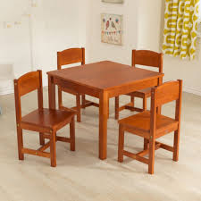 Wood Dining Room Tables And Chairs by Amazon Com Kidkraft Farmhouse Table U0026 Chair Set Toys U0026 Games