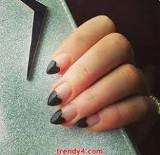 black tip round nails hair and makeup pinterest round nails
