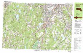 Map Of Cambridge Ma Worcester South Topographic Map Ma Usgs Topo Quad 42071b7