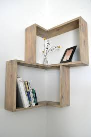 diy corner shelves for books and plants apt living room