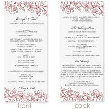 wedding program format instant wedding program template vintage bouquet