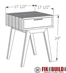 Build Your Own End Table Plans by Modern Diy End Table Side Table Fixthisbuildthat