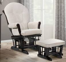 Baby Glider And Ottoman Set Shermag Valencia Glider And Ottoman Set Espresso Latte Fabric