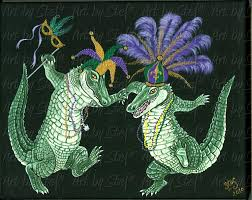 mardi gras alligator gator by stef mardi gras in louisiana mardi gras