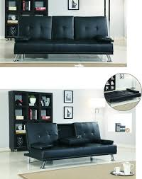 comfy sofa beds for sale cinema style futon sofabed with drinks table sofa bed faux leather