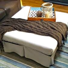 White Ottoman Coffee Table - furniture awesome ottoman coffee table design with white sofa and