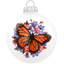 symbol of the butterfly monarch glass ornament flower insect