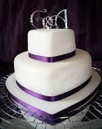 Heart Wedding Cake Pictures 12 Of 16 2 Tier Purple Heart Wedding Cake Photo