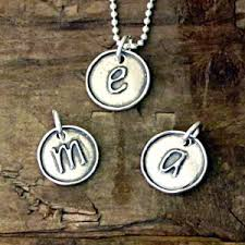 silver letter necklace pendants images Sterling silver jewelry initial letter charm pendants necklaces jpg