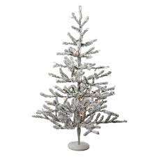 36 pre lit flocked alpine coral artificial tree warm