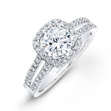 engagement rings square images White gold split shank square halo diamond engagement ring halo jpg