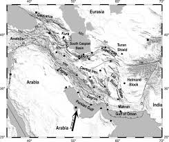 middle east map india simplified tectonic map of the middle east region superimposed on