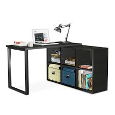 l shaped desk tribesigns modern corner computer desk with 6