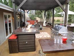 21 best outdoor kitchen design ideas blue pool wooden fences