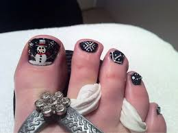 advent calendar day 15 christmas pedicure nail art
