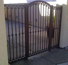 ornamental wrought iron courtyard gate vintage iron sacramento