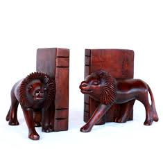 lion bookends carved lion bookends azizi