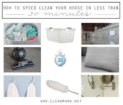 how to speed clean your house in less than 30 minutes free