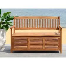 Patio Furniture Storage Bench Safavieh Outdoor Living Brisbane Brown Storage Bench Free
