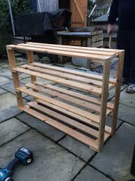 Patio Furniture Made Out Of Wooden Pallets - wooden shoe rack wooden shoe racks shoe rack and pallets