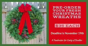 fresh wreaths pre order your fresh christmas wreath unity of boulder