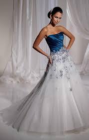 white dresses for wedding white and blue wedding dress naf dresses