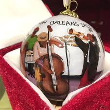 glass ornament new orleans to go