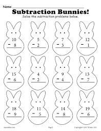 spring addition u0026 subtraction worksheets 3 free versions