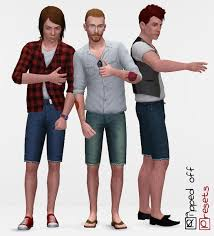 sims 3 men custom content mod the sims ripped off jeans for men