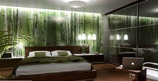 green wallpaper room bedroom wallpaper bed no mirrors home decorating ideas