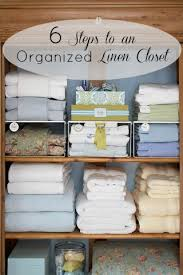 6 steps to an organized linen closet tipsaholic