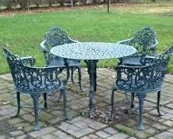 splendid vintage wrought iron patio furniture sets chic inspiration