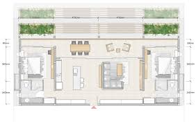 Floor Plan Of Two Bedroom House by Architectural Plan Of Two Bedroom Flat With Design Image 3403