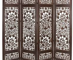 carved screen sun and moon wood room divider traditional regarding