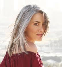 grey hairstyles for young women gray hair beautiful long gray hair style pictures growing