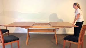 dining room table extension slides sarah shaker trestle extension table youtube