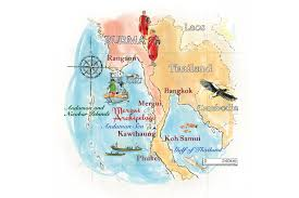 Map Burma Sailing Around The Mergui Archipelago Cn Traveller