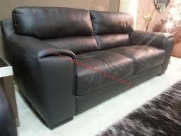 Scs Armchairs Scs Tuscany 3 2 1 Italian Dark Brown Leather Sofa Furniture