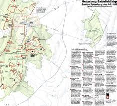 Battle Of Gettysburg Map Battle Of Gettysburg Warfield Ridge