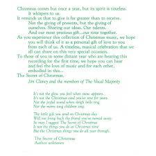 the secret of christmas u2014 vocal majority pure harmony
