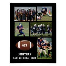 engraved football gifts sports balls collage gifts on zazzle