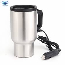 heated coffee mug 450ml car hot kettle vehicle mounted thermal travel cup handy cup
