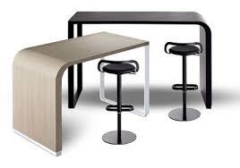 table de cuisine hauteur 90 cm brunch high table counter l 140 h 90 cm blanched oak top