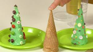 how to make an ice cream cone christmas tree sophie u0027s world
