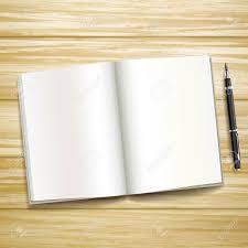 Holz Schreibtisch Leere Offenes Buch über Holz Schreibtisch Mit Einem Stift