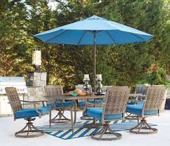 Patio Furniture Dining Sets With Umbrella - signature design by ashley partanna outdoor dining table set with