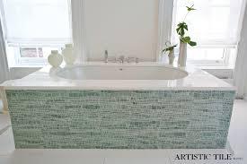 Blue Glass Tile Bathroom Blue Mosaic Tile Bathroom Contemporary With Artistic Tile Stone