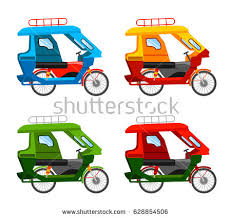 philippine tricycle png tuk tuk motorized tricycle vector flat stock vector 628854506