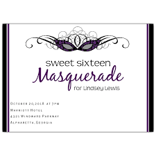 masquerade sweet 16 invitations paperstyle